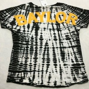 Baylor University Bear Tie Dye Shirt Black White
